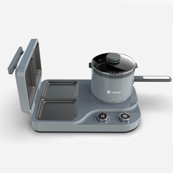 MINI GRILL AND HOT POT 2-IN-1 COMBO